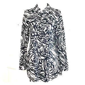 Calvin Klein long sleeve button down blouse